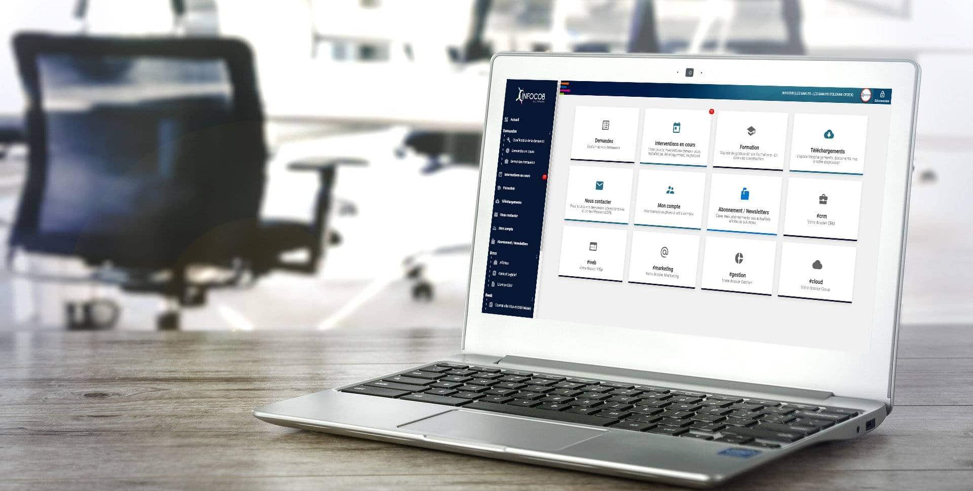 Logiciel CRM connecté à votre espace client